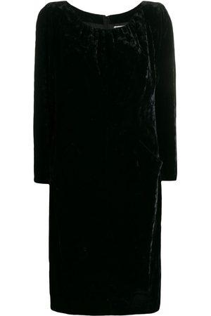 Yves Saint Laurent Women Dresses - 1990s gathered detail velvet dress
