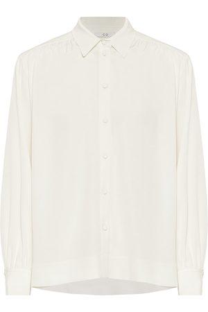 CO Stretch-crêpe blouse