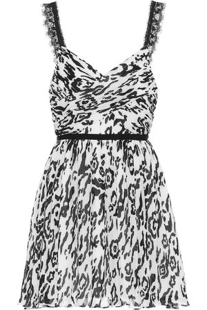 Self-Portrait Animal-print mini dress
