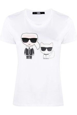 Karl Lagerfeld Logo print round neck T-shirt