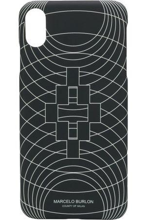 MARCELO BURLON Wireframe-print iPhone XS Max case