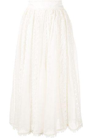 ZIMMERMANN Super Eight butterfly-lace midi skirt
