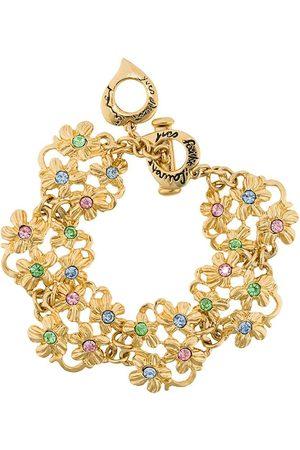 Yves Saint Laurent Floral charm bracelet
