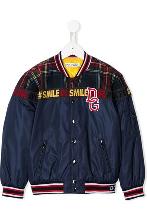 Dolce & Gabbana Boys Bomber Jackets - Panelled logo patch bomber jacket