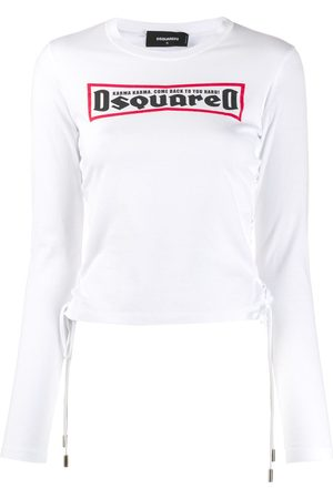 Dsquared2 Women Long Sleeve - Lace-up T-shirt