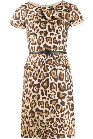Dior 2000s pre-owned leopard print dress