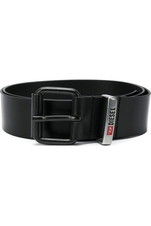 Diesel Square buckle engraved logo belt