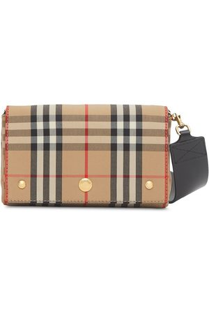 Burberry Check print mini bag