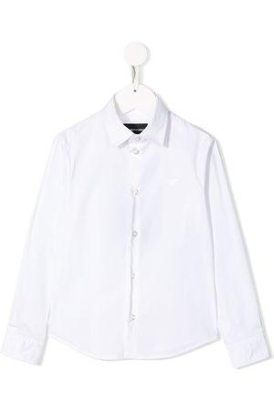 Emporio Armani Boys Tops - Embroidered logo shirt