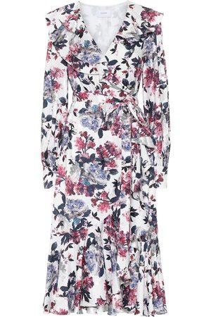 Erdem Jerridine satin-jacquard wrap dress
