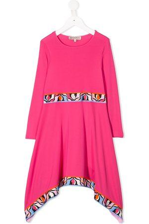 Emilio Pucci Girls Casual Dresses - Graphic trim asymmetric dress