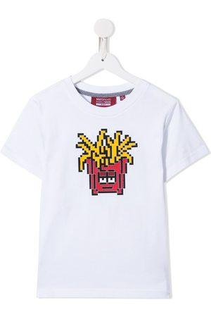 Mostly Heard Rarely Seen 8-Bit Fries print cotton T-shirt