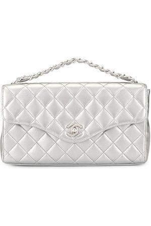 CHANEL Diamond quilted CC tote