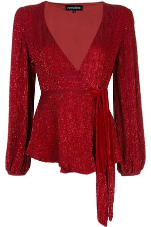 Retrofete Sequin embroidered blouse