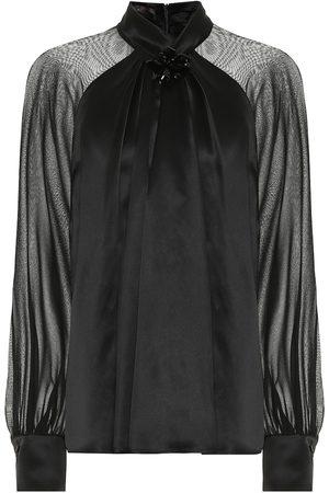 Max Mara Enna silk-satin blouse