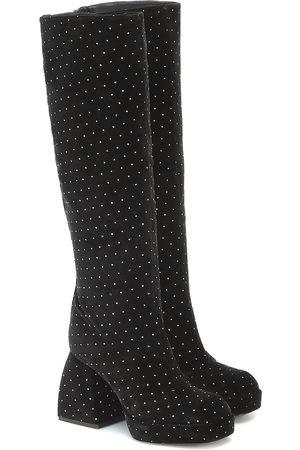 NODALETO Bulla Solal knee-high velvet boots