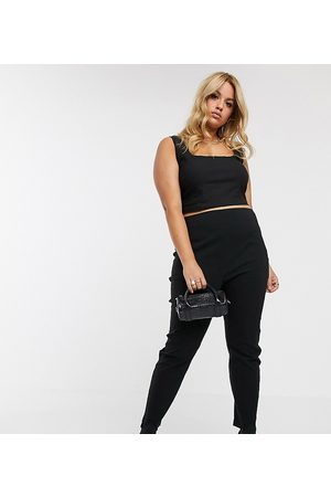 ASOS ASOS DESIGN Curve high waist trousers in skinny fit