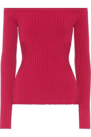 Altuzarra Off-the-shoulder ribbed sweater