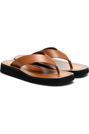 The Row Ginza leather platform slides