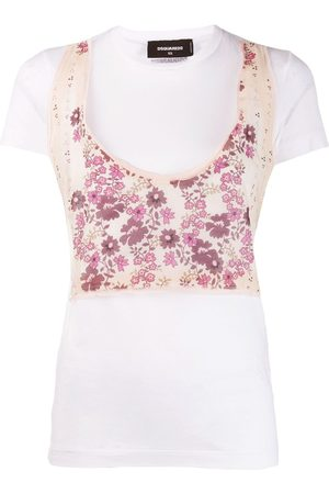 Dsquared2 Floral panelled T-shirt