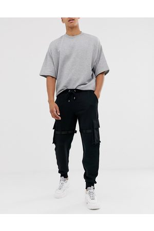 ASOS Utility joggers with multi pockets & strapping