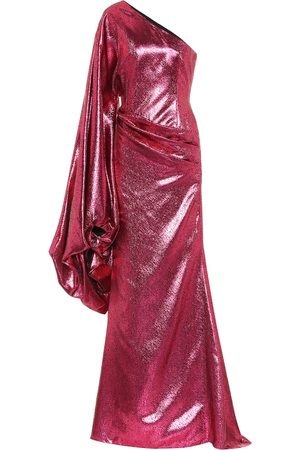 HALPERN Women Asymmetrical Dresses - Metallic asymmetric gown