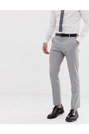 Selected Slim fit suit trouser with stretch in light