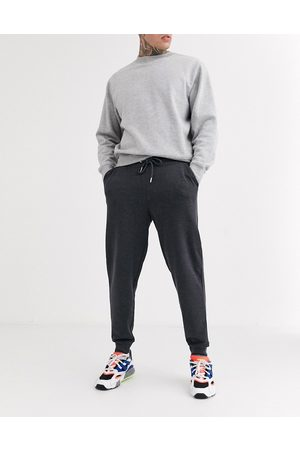 ASOS Organic tapered joggers in charcoal