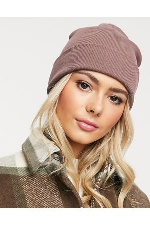 ASOS Turn up beanie hat in recycled polyester in