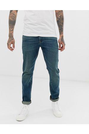 ASOS Men Slim - Stretch slim jeans in vintage dark wash