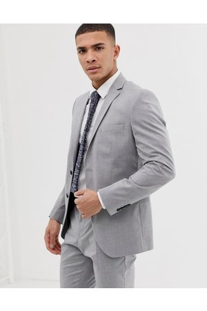Selected Slim fit suit jacket with stretch in light