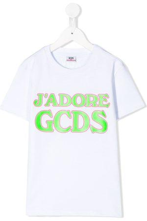 GCDS Girls Short Sleeve - Logo print T-shirt
