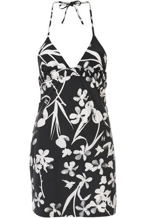 CHANEL Floral print halter top