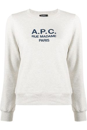 A.P.C Long sleeve logo sweater