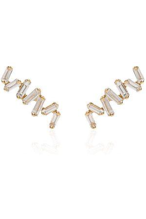 Suzanne Kalan Women Earrings - 18kt yellow gold Baguette diamond earrings