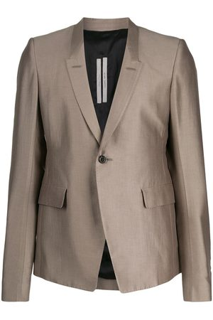 Rick Owens Fitted single breasted blazer