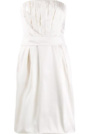 Dolce & Gabbana 1990's strapless pleated detailed dress