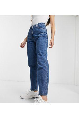 COLLUSION X006 mom jeans in dark stone wash