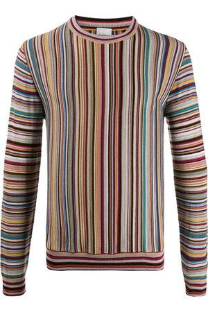 Paul Smith Long sleeve striped knit sweater