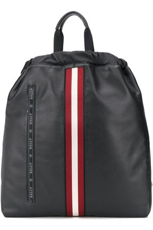 Bally Stripe detail embroidered logo backpack