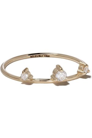Mizuki 14kt yellow three diamonds ring