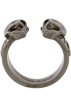 Alexander McQueen Men Rings - Twin skull ring