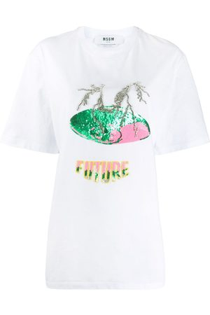 Msgm Women Short Sleeve - Embellished Future T-shirt