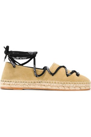 OFF-WHITE Lace up detail espadrilles