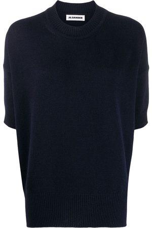 Jil Sander Cropped sleeve jumper