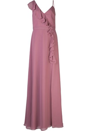 Marchesa Notte Bridesmaids Ruffle trim long dress