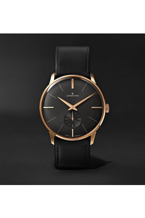 Junghans Men Watches - Meister Handaufzug Hand-Wound 37.7mm Stainless Steel and Leather Watch, Ref. No. 027/5903.00