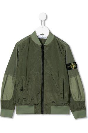 Stone Island Boys Bomber Jackets - Waxed shell bomber jacket