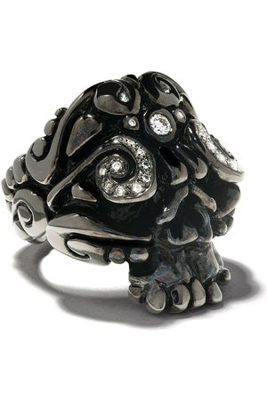 Duffy Rhodium skull ring