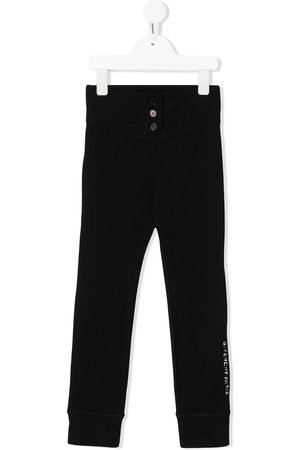 Givenchy Front button logo band trousers